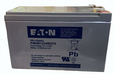 12V 9AH Small Deep Cycle rechargeable Battery UPS - Eaton PWHR1234W2FR
