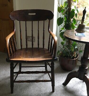 Single Antique Mahogany Hall Occasional Bedroom Carver Chair