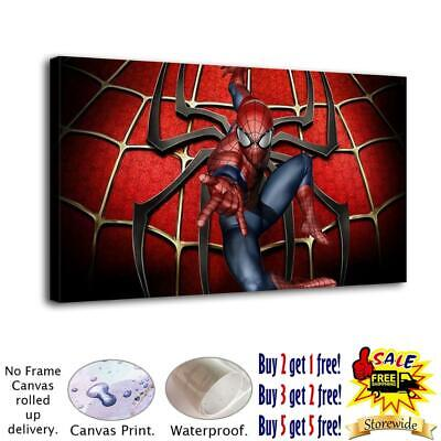 "12""x20""Marvel's Spider-Man HD Canvas Print Painting  Home Decor Wall Art Picture"