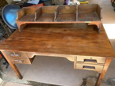Solid timber desk