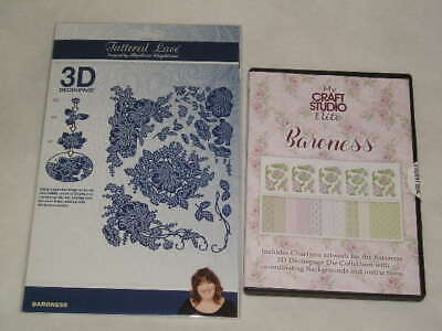 Tattered Lace 3D Decoupage Cutting Dies & CD Rom - Baroness (E)