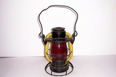 Vintage Antique Dietz Vesta Railroad Lantern Red Globe New York