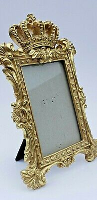 Crown Photo Frame Picture Decor King Queen Prince Princess Gold Baroque New