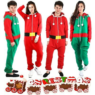 Ladies Christmas Santa Elf All in One Onesie Gerber Jumpsuit Size Small to 5XL