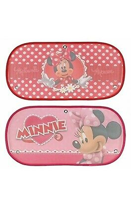 Disney Minnie Mouse Car Rear Sun Shade Bundle