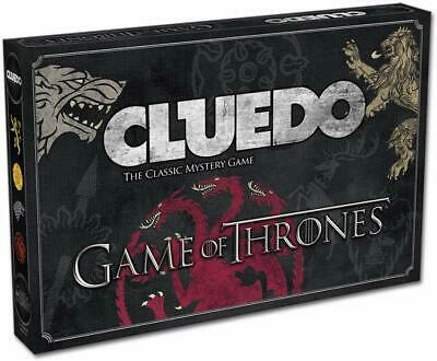 Monopoly Game of Thrones Cluedo Mystery Board Game