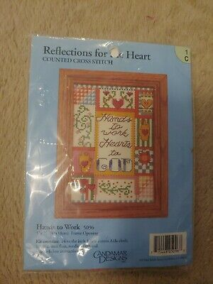 Reflections For The Heart Counted Cross Stitch Hands to Work Brand New Candamar