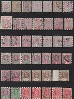 British colonies - Lot of 145 old stamps - Leeward , Turks & Caicos , Dominica