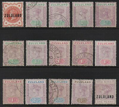 British colonies - Lot of 193 old stamps - Zululand , Zanzibar , Cayman , etc