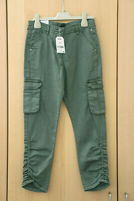 Next Girls Green Satin Feel Cargo Trousers Age 8 Years BNWT Tag £19