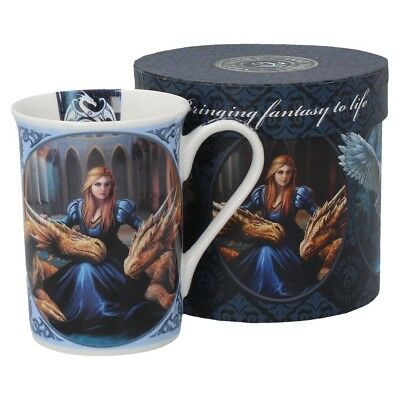 Anne Stokes boxed mug featuring the Fierce Loyalty design