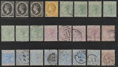 British colonies - Lot of 99 old stamps - St Lucia , Seychelles , Virgin Islands