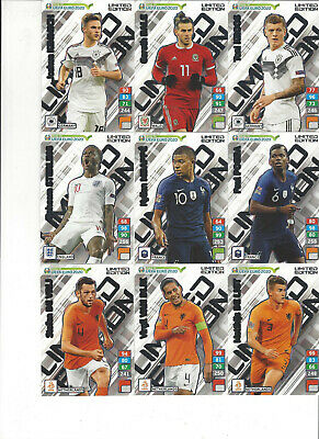 Panini Adrenalyn XL Road to UEFA Euro 2020 Cards choose aussuchen Limited Karten