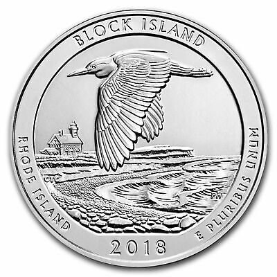 2018 5 oz Silver ATB Block Island National Wildlife Refuge RI WITH NEW Air-Title