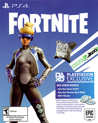 PS4 Exclusive Fortnite: Epic Neo Versa Skin+500 V-Bucks (USA)  INSTANT DELIVERY