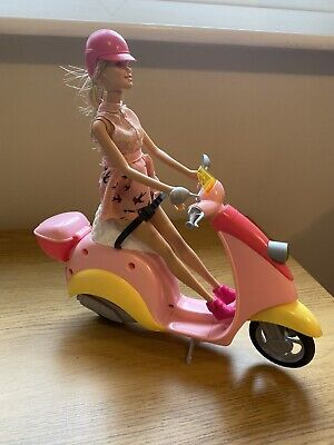 BARBIE Doll And scooter / moped /Bike