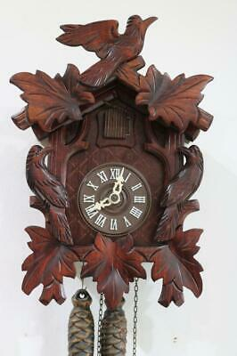 SMALL, MODERN CUCKOO CLOCK by FAMILLE DRUBBA, Black Forest GREAT WORKING ORDER