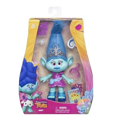"""Dreamworks Trolls The Movie MADDY The Hairdresser 9"""" figure. NEW And Boxed."""