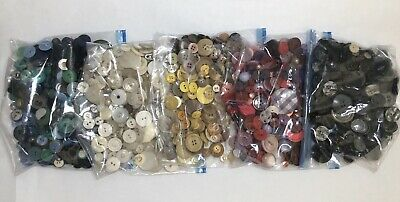 2 1/2 Lbs Huge Lot Vintage Buttons-Mixed Lot-All Colors-Plastic-Sm to Lg