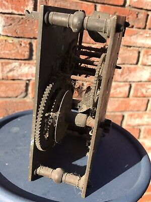 Antique grandfather clock movement for parts