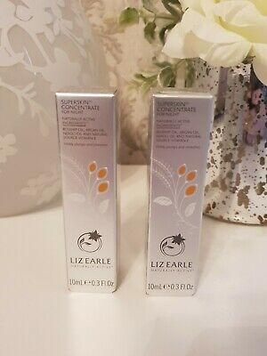 Liz Earle Superskin Concentrate For Night 10ml Rollerball x2 duo (20ml) BN Seal