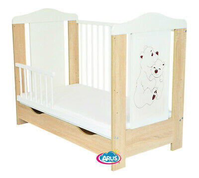 "Baby Cot With Drawer ""Pati"" Bears /Cot For Baby / Junior Bed + Mattress"