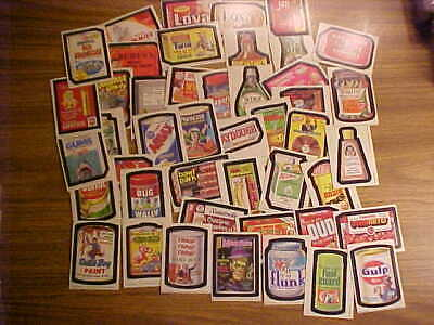1980 Series 4 Wacky Packages LOT: 45 of 66 Sticker Trading Cards Vintage Topps