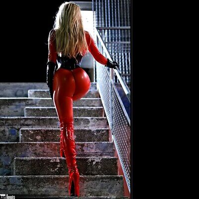 100%Latex Rubber Rot Catsuit Tight Full Cover BodySuit Uniform cosplay0.4mmS-XXL