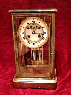 French 4 glass clock by S.MARTI