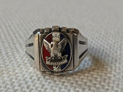 1930s Eagle Scout Ring Size 11.5