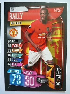 Topps Match Attax 2019/20 Manchester United Bailly Base Card Comb P&P