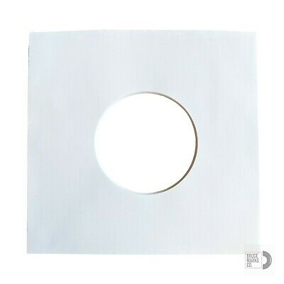 """60 SHEETS - WHITE PAPER RECORD SLEEVES FOR EPs 7"""" VINYL RECORDS (45RPMs)"""