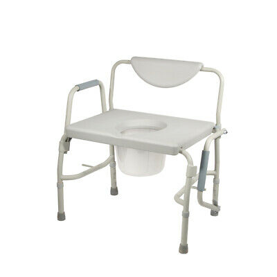 Drive Medical 11135-1 Bariatric Drop Arm Bedside Commode Chair