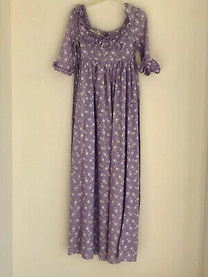 Laura Ashley Early 70's Full Length Dress. Made In Wales. Lilac.
