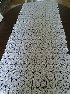 """Lace Table Runner: Collectible: Very Old Authentic Vintage: Long 24"""" x 62"""""""