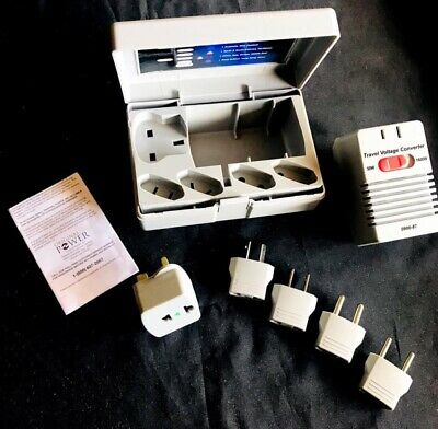 🔌 New! Power Line Global Power Foreign Travel Converter 5 Adapters