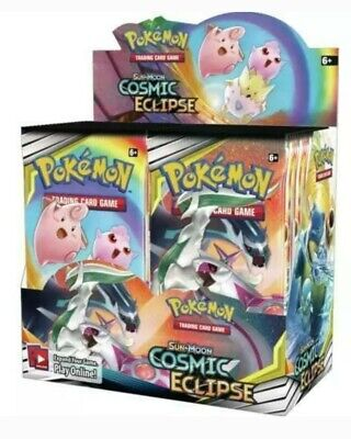Pokemon Tcg Sun & Moon Cosmic Eclipse Booster Sealed Box Live And Ready To Ship!
