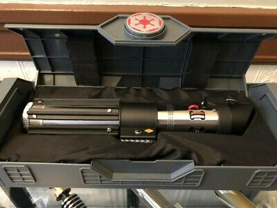 Darth Vader Legacy Lightsaber Hilt w/ Red Kyber Crystal
