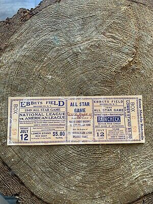 Baseball Ticket From 1949 ALL STAR GAME