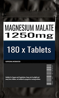 180 X Magnesium Malate 1250mg Tabletten