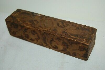 Antique Flemish 4 Sided Box with Sliding Cover