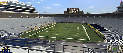 Notre Dame vs Virginia Tech November 2, 2019 4 tickets upper level