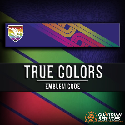 Destiny 2 TRUE COLORS Emblem Code - INSTANT DELIVERY! (PC/PS4/XBOX)