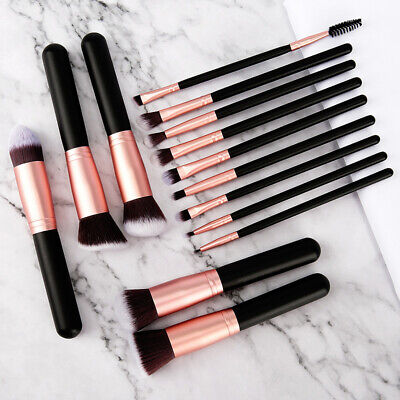 14pcs Makeup Brushes Set Powder Foundation Eyebrow Face Lip Kabuki Brush Kit