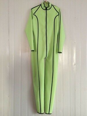 Latex Gummi Rubber Catsuit Suit Apple green Ganzanzug Catsuit Kostüm Size S-XXL