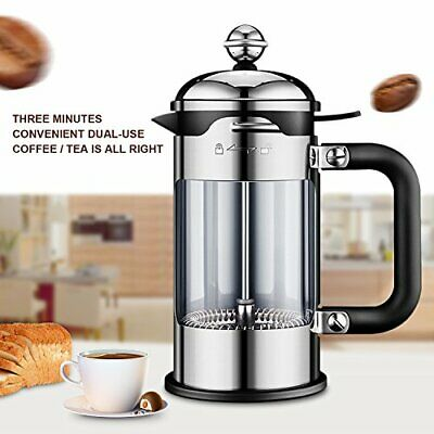 51 oz French Press  Tea Coffee Maker Stainless Steel Glass  Pot Filter Cafetiere
