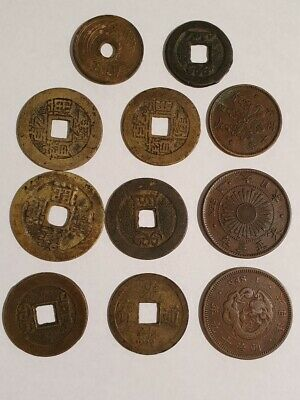 ASIA - Selection of eleven old coins