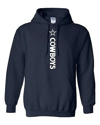 Dallas Cowboys NFL Vertical Design Hoodie - S-5XL FREE SHIPPING