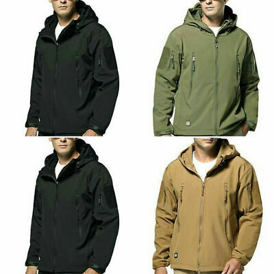 Waterproof Soft Shell Military Jackets Mens Winter Jacket  Outdoor Tactical Coat