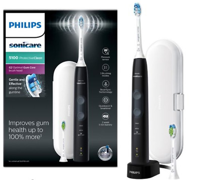 Philips Sonicare ProtectiveClean 5100 Black Electric Toothbrush NEW GENUINE